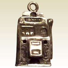 Slot Machine Sterling Silver Charm 3D