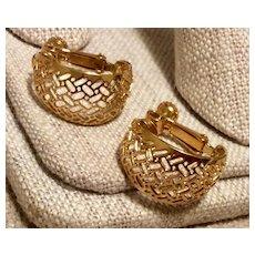 Napier Gold Tone Clip Earrings