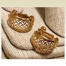 Napier Gold Tone Clip Earrings