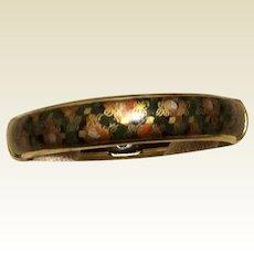Hinged Cloisonné Bangle Bracelet