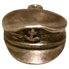 Sterling Silver US Marine Cap Charm