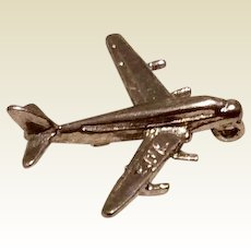 Sterling Silver Airplane Charm