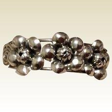 Floral Sterling Silver Cuff Bracelet
