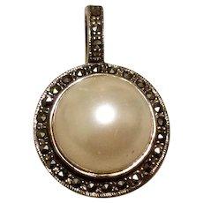 Marcasite & Pearl Sterling Pearl Enhancer