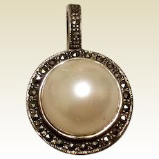 Marcasite Pearl Sterling Pearl Enhancer