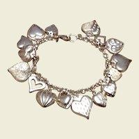 """Sterling Silver Heart Bracelet 7"""""""