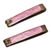 Sterling Pink Enameled Baby/Lingeris Pins