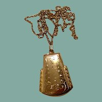 Sterling Rose Gold Filled Locket & Chain
