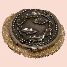 Art Nouveau Tam O'Shanter Beaded Coin Purse