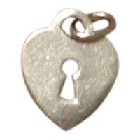 Vintage Sterling Silver Heart Charm Pendant