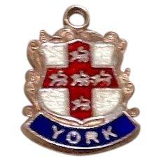 800 Silver Enameled York Travel Charm