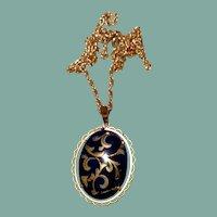 Gold Filled Limoges Pendant Necklace