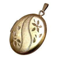 Gold Tone Double Photo Locket
