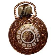 Gold Tone Perfume Flask Pendant