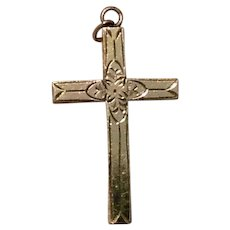 Gold Filled Cross Pendant  & Chain