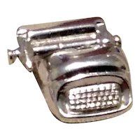Sterling Mechanical Typewritter Charm