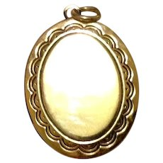 Gold Tone Locket