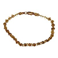 Sterling Gold Vermeil Flexible Link Bracelet