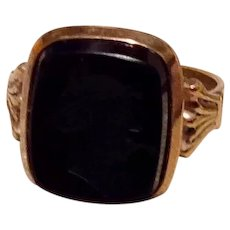 18K Gold Filled Intaglio Ring Size 6