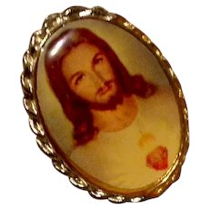 Sacred Heart Of Jesus Lapel Pin NOS