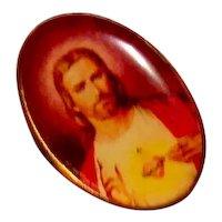 Sacred Heart Of Jesus Lapel Pin NOS