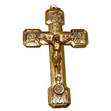 Gold Tone Way Of The Cross NOS