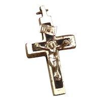 Early Catholic Crucifix Ebony Inlay