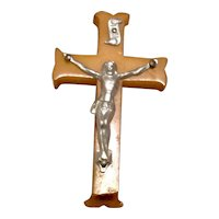 Celluloid Catholic Crucifix