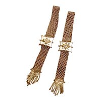 Pair Gold Filled Brides Mesh Garter Bracelets Pat'n Nov 7, 71