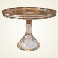 Large 19th Century Pedestal Glass Cake Stand