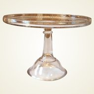 19th Century Pedestal Glass Cake Strand