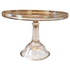 "19th Century Pedestal Glass Cake Strand 10 1/2"""