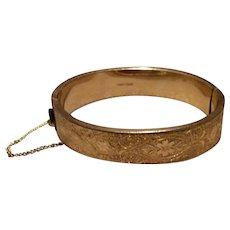 12K Gold Filled Hinged Bangle Bracelet FMCo