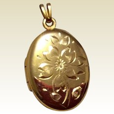 Gold Filled Double Photo Locket