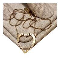 Gold Filled Heart Pendant Necklace