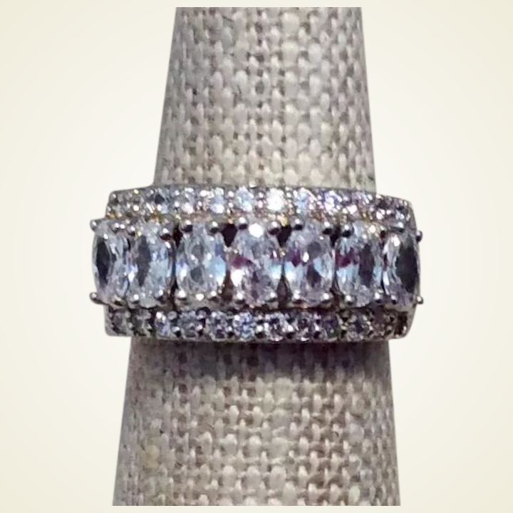 ece0bb695f8c2 Clear Crystal CZ Sterling Ring Size 5
