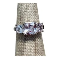 Sterling Clear Sparkling CZ Ring Size 5