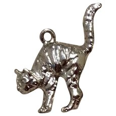 Cat Charm 3D Sterling Silver