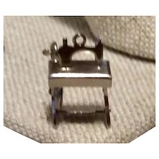 Sewing Machine Mechanical Sterling Charm
