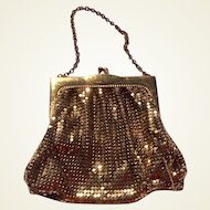 Art Deco Whiting & Davis Gold Tone Mesh Purse