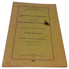 State Of Louisiana Department Of Education Booklet 1904