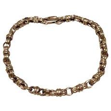 Fancy Link Sterling Silver Bracelet