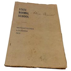State Normal School Natchitoches Louisiana 1905 Annual Circular Of Information