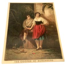 "Lithograph ""The Cooper Of Nuremberg"""