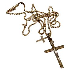 14K Gold Filled Crucifix & Chain