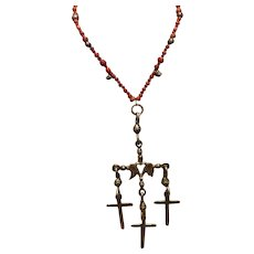 Yalalag Sterling Cross Pendant Necklace