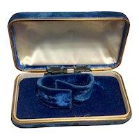Blue Velvet Watch Display Box