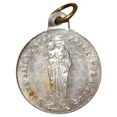 Early Saint Anne Aluminum Medal