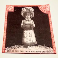 Victorian Castoria Advertising Trade Card