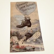 Standard Screw & Fastened Boots & Shoes Advertising Trade Card
